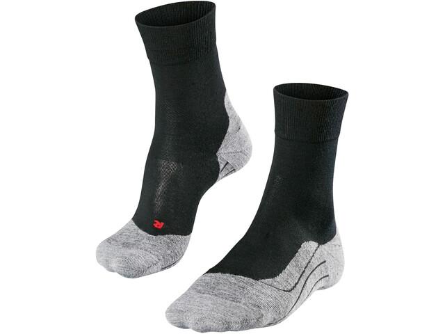 Falke RU4 Wool Løbesokker Herrer grå/sort | Strømper